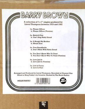 Barry Brown - Hot Milk 7 x 7 Box set