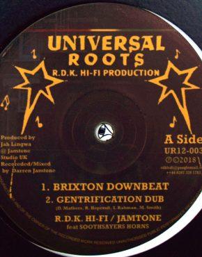 UR12003 - Brixton Downbeat - R.D.K. Hi Fi - Jamtone Feat. Soothsayers Horns