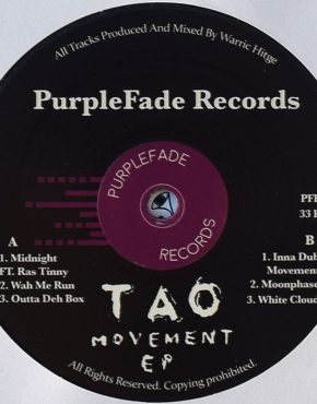 PFR004 - Midnight Ft Ras Tinny - Tao Movement - Purplefade Records 12