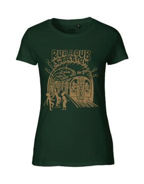B Green tshirt woman rubadub