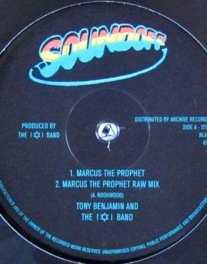 BLXD002 - Marcus The Prophet - Tony Benjamin and the I & I Band - Soundoff 10