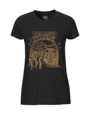 Black tshirt woman rubadub