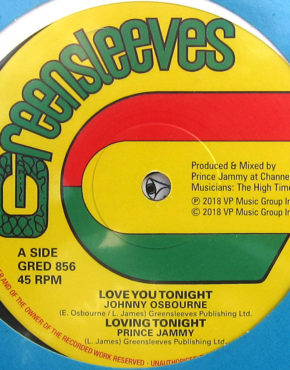 GRED856 - Love You Tonight - Johnny Osbourne - Greensleeves 12