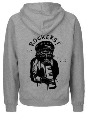 Grey Hoodie men achter rockers1