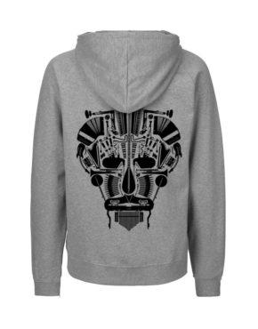 Grey hoodie man achter Music