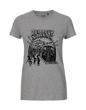 Grey tshirt woman rubadub