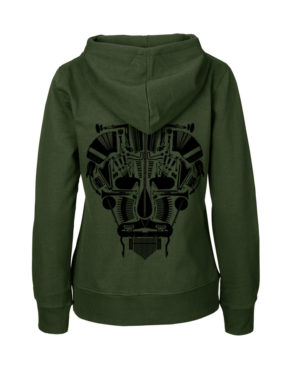 Mil hoodie vrouw achter Music