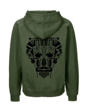 Military hoodie man achter Music