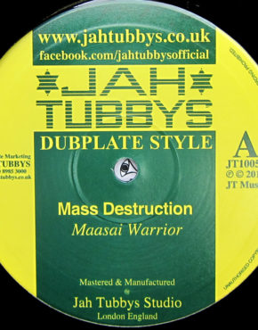 JT10050 - Mass Destruction - Maasai Warrior - Jah Tubbys 10
