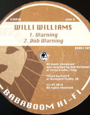 BABA1205 - Warning - Willi Williams - Bababoom Hi-Fi 12