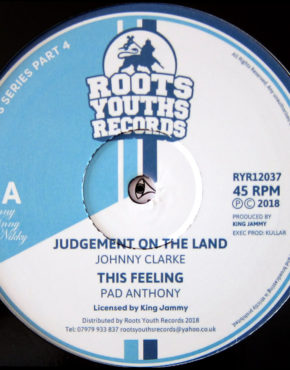 RYR12037 - Judgement On The Land - Johnny Clarke - Roots Youths Records 12