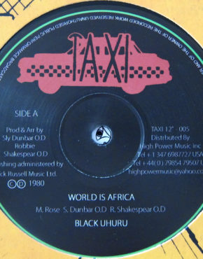 TAXI12005 - World Is Africa - Black Uhuru - Taxi 12
