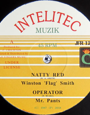 JFR1251 - Natty Red - Winston 'Flag' Smith - Intellic Muzik 12 (Jah Fingers)
