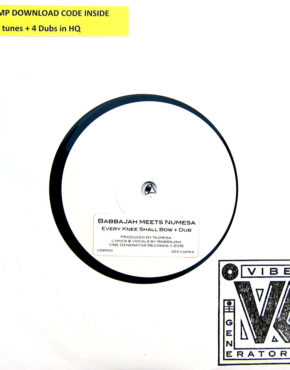 VGR001 - Every Knee Shall Bow - Babbajah Meets Numesa - Vibes Generator Records