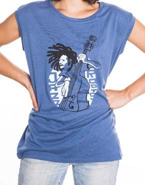 Woman blue jazz