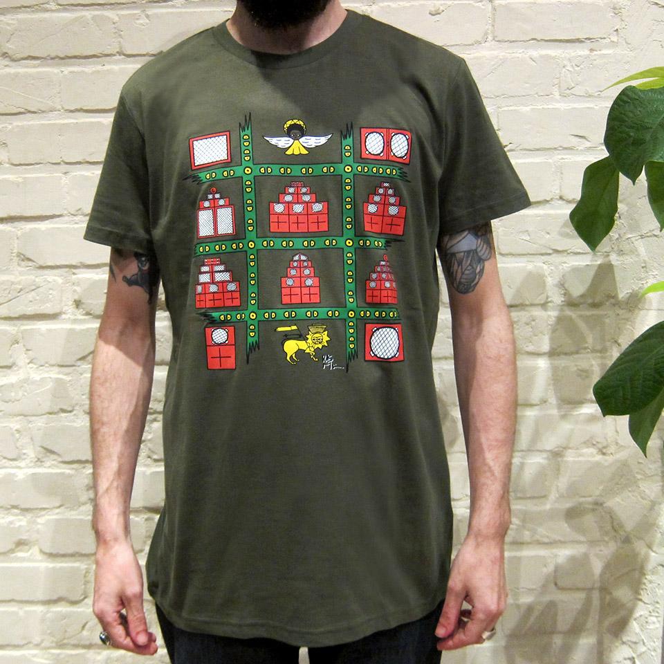 "80406245a ""Ethiopian Dance"" © Ras Mykha – Military T-Shirt Men – 100% Organic Cotton  – Limited Print / 25 (one XXXL available) Men | Unisex, T-shirts"